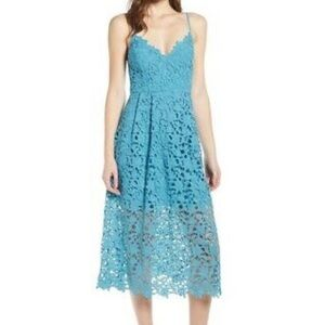 Astr the Label Floral Lace Crochet overlay dress